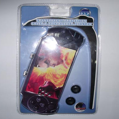 PSP transparent protection cover and soft rubber joystick